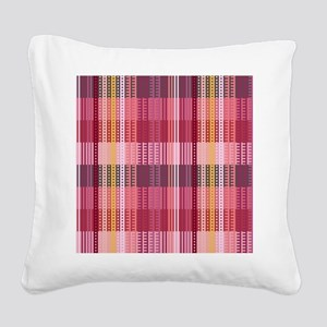 Tartan Red Square Canvas Pillow