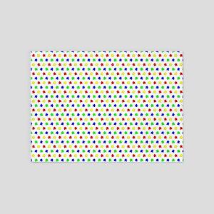 Meeple Pattern 5'x7'Area Rug