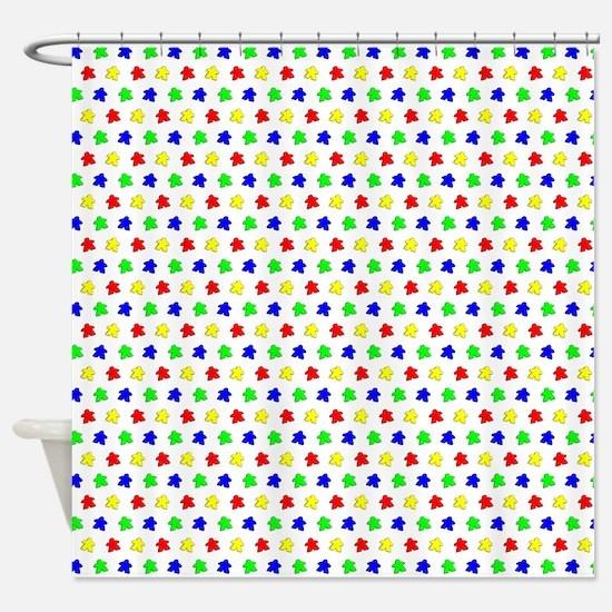 Meeple Pattern Shower Curtain