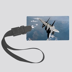 Fighter Jet Large Luggage Tag