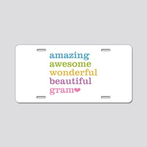 Gram - Amazing Awesome Aluminum License Plate