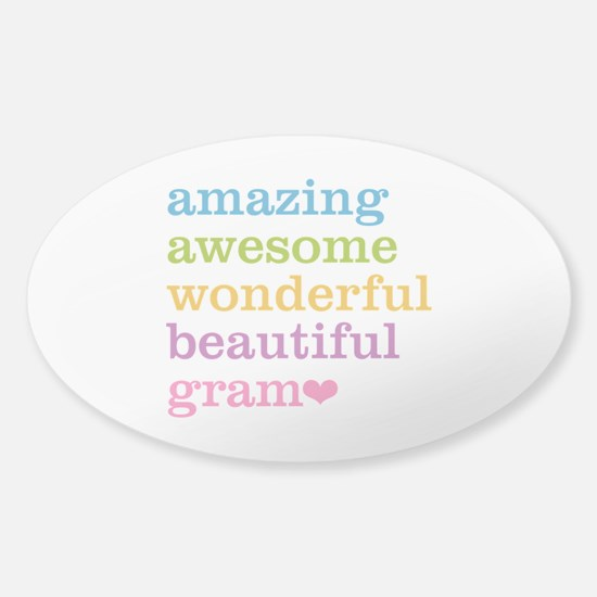 Gram - Amazing Awesome Sticker (Oval)