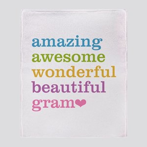 Gram - Amazing Awesome Throw Blanket