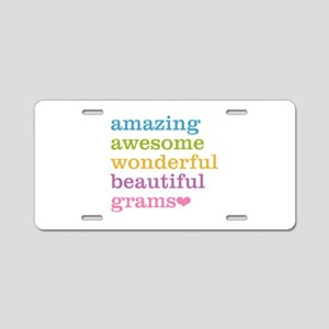 Grams - Amazing Awesome Aluminum License Plate
