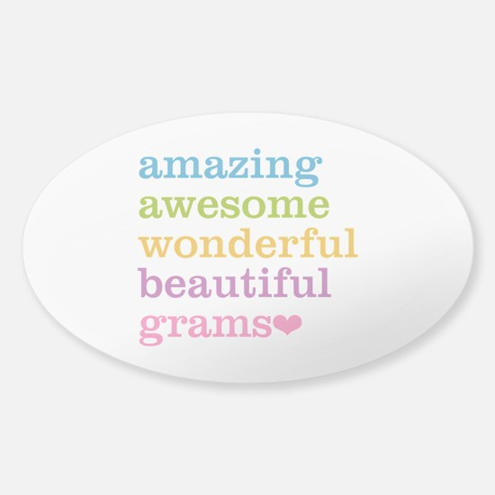 Grams - Amazing Awesome Sticker (Oval)