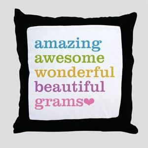 Grams - Amazing Awesome Throw Pillow