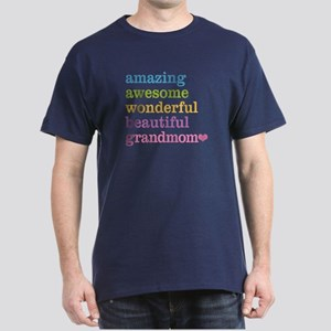 Grandmom - Amazing Awesome Dark T-Shirt