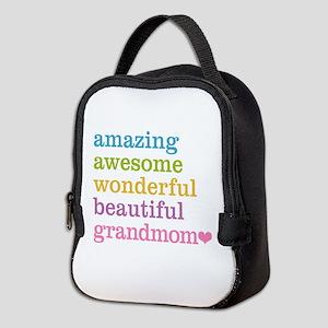 Grandmom - Amazing Awesome Neoprene Lunch Bag