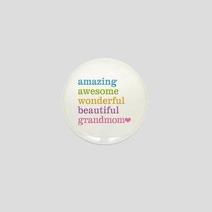 Grandmom - Amazing Awesome Mini Button