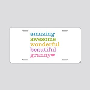 Granny - Amazing Awesome Aluminum License Plate