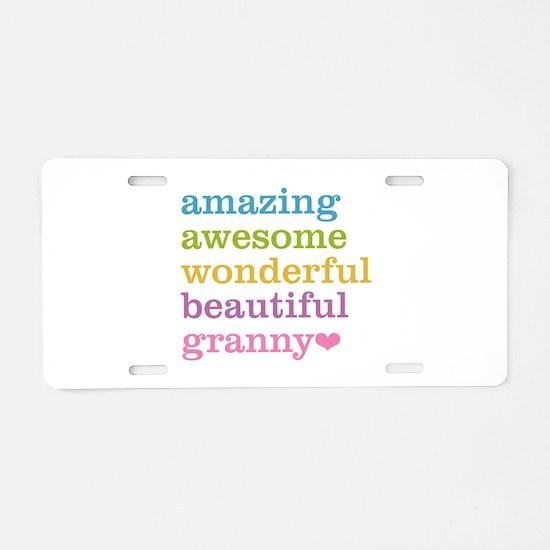Granny - Amazing Awesome Aluminum License Plate
