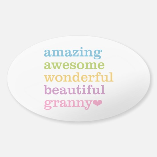 Granny - Amazing Awesome Sticker (Oval)