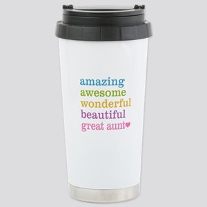 Great Aunt - Amazing Aw Stainless Steel Travel Mug