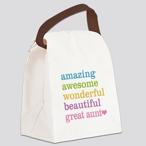 Great Aunt - Amazing Awesome Canvas Lunch Bag