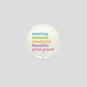 Great Gram - Amazing Awesome Mini Button