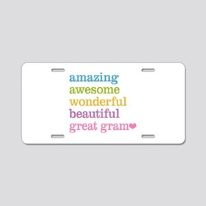 Great Gram - Amazing Awesom Aluminum License Plate