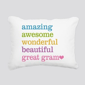Great Gram - Amazing Awe Rectangular Canvas Pillow