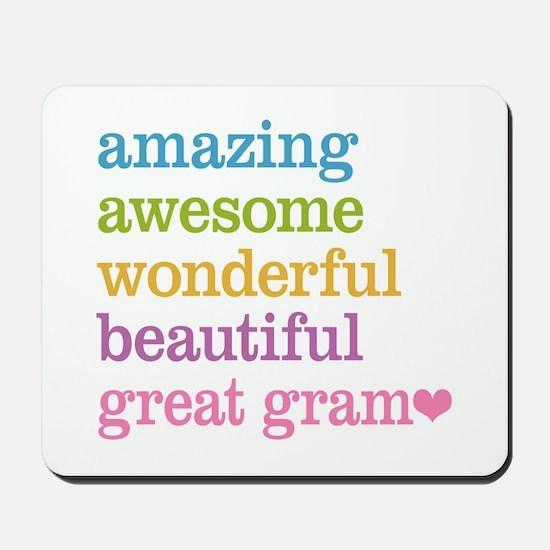 Great Gram - Amazing Awesome Mousepad