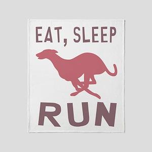Eat Sleep Run Throw Blanket