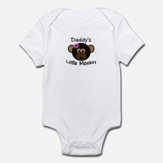 Daddy's Little Monkey Girl Baby/Toddler Bodysuit
