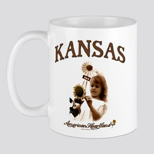 Kansas Windmill Girl Mug