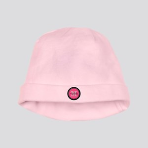 Pink | Black Name Initial Monogram baby hat