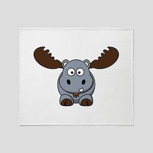 Hypotenuse the Hippopotamoose Throw Blanket
