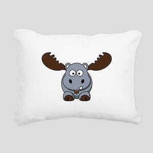 Hypotenuse the Hippopota Rectangular Canvas Pillow