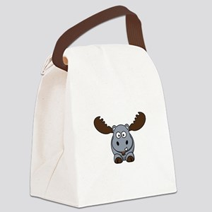 Hypotenuse the Hippopotamoose Canvas Lunch Bag