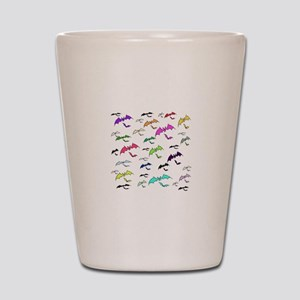 Rainbow Of Bats Shot Glass