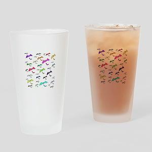 Rainbow Of Bats Drinking Glass