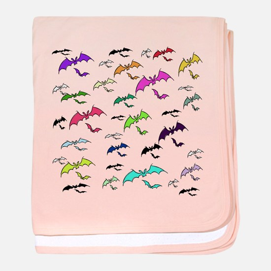 Rainbow Of Bats baby blanket