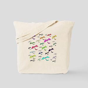 Rainbow Of Bats Tote Bag