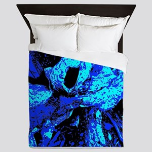 Abstract Blue Demolition Queen Duvet