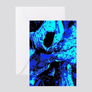 Abstract Blue Demolition Greeting Cards