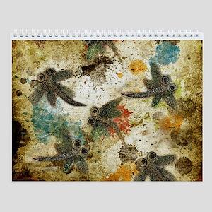 Dragonfly Flit Rustic Splash Wall Calendar