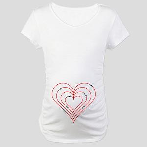 Civil Engineering Heart Maternity T-Shirt