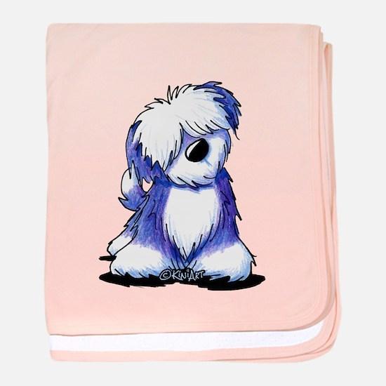 Old English Sheepie baby blanket