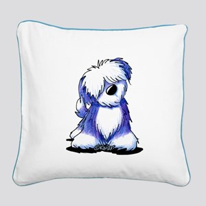 Old English Sheepie Square Canvas Pillow