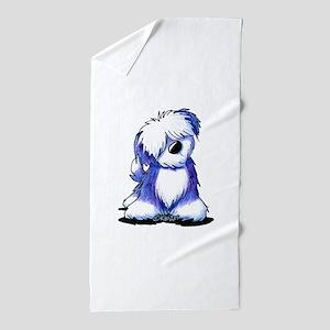 Old English Sheepie Beach Towel