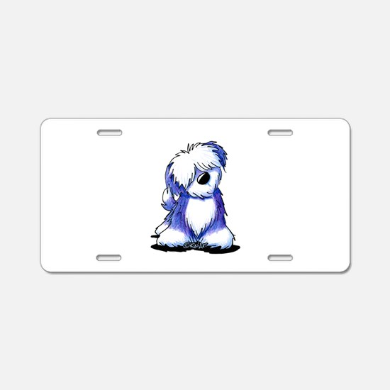 Old English Sheepie Aluminum License Plate