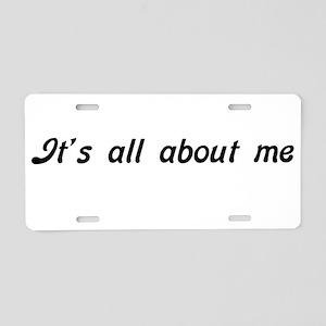 ALLME1A Aluminum License Plate