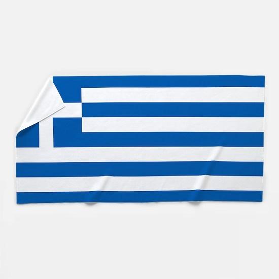 Flag of Greece Beach Towel