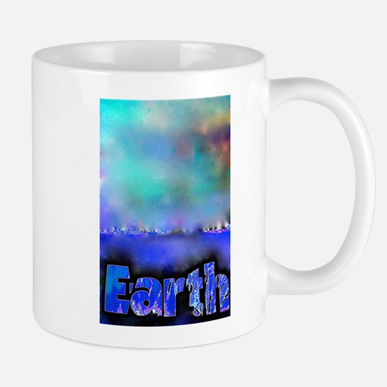 Abstract Earth Mugs