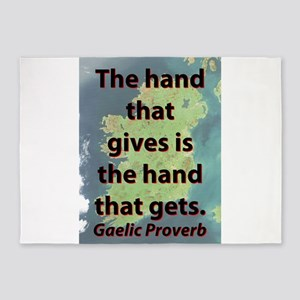 The Hand That Gives 5'x7'Area Rug