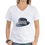 Black Jack Justice Women's V-Neck T-Shirt