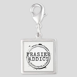 Frasier Addict Silver Square Charm