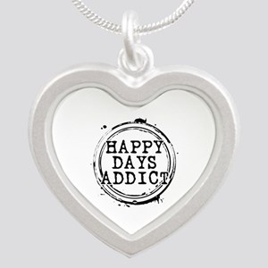 Happy Days Addict Silver Heart Necklace