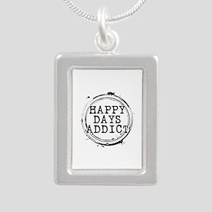 Happy Days Addict Silver Portrait Necklace