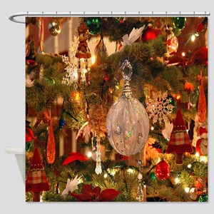 Vintage Holiday Decor Shower Curtain